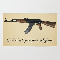religion Area & Throw Rugs featuring Ceci n'est pas une religion by Spyck