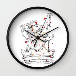 Crown Herald Lion KINGDOM Wall Clock
