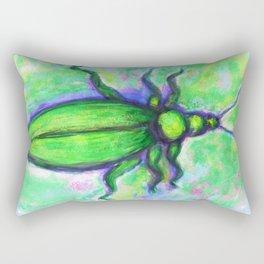 The green bug Rectangular Pillow