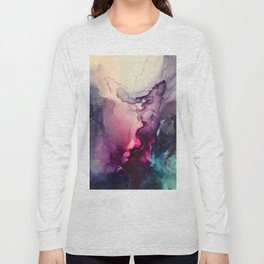 Mission Fusion - Mixed Media Painting Long Sleeve T-shirt