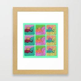 wave ocean pastel Framed Art Print