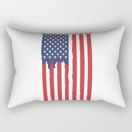 These Colors Don't Run American Flag Design Rectangular Pillow
