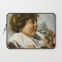 """Frans Hals """"Boy with a glass and a tin can"""" Laptop Sleeve"""