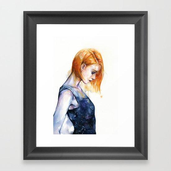 heliotropic girl Framed Art Print