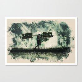 Wildlife Series - Sumatra Rıce Farmer Canvas Print