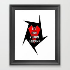 Let our vision expand Framed Art Print