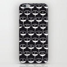 Infinite Typewriter_Black iPhone & iPod Skin