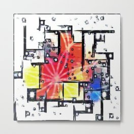 Mondrian's Dream Metal Print