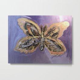 Flying Flowers Metal Print