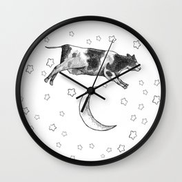 Cow Jumping Over The Moon Wall Clock