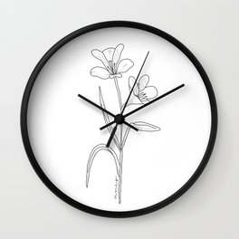 Amancay - Patagonian wildflower Wall Clock