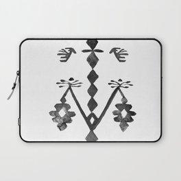 Tree of Life Black White Tribal Ethnic Kilim Motif Laptop Sleeve
