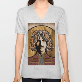 Boho Beatle (George) Unisex V-Neck