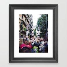 Sunday 11 November 2012: acceptable social climbing scenario Framed Art Print