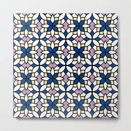 Moroccan Blue Metal Print