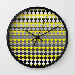 Lines and Squares Wall Clock