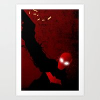red hood Art Prints featuring Red Hood by Ryu the Designer