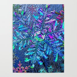 Snowflake Rainbows Winter Dream Poster