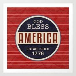God Bless America Art Print