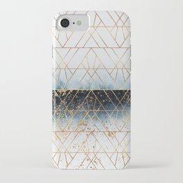 Winter Blue Geo iPhone Case