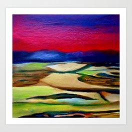 Red Landscape 1 Art Print