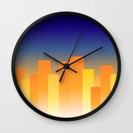 Simple City Sunset Wall Clock