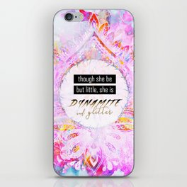 Watercolor Pastel Boho Dynamite and Glitter iPhone Skin