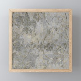 Faded Fluer De Lis Framed Mini Art Print