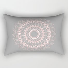 Mandala Rose Rectangular Pillow