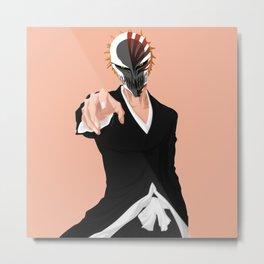 Hollow mask Ichigo Kurosaki Metal Print
