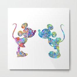 Love Is  Here  colorful watercolor Metal Print