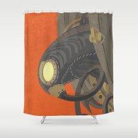bioshock Shower Curtains featuring SongBird - BioShock Infinite by LindseyCowley