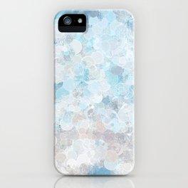 Graffiti dream - blue and nude iPhone Case