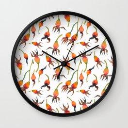 Rose Hips Wall Clock