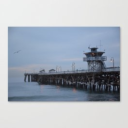 Christmas at the Pier Canvas Print