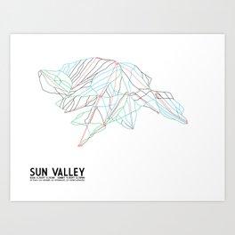 Sun Valley, ID - Minimalist Trail Map Art Print