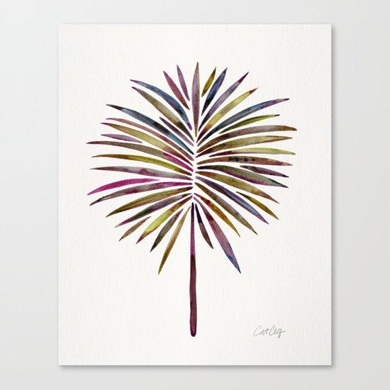 Tropical Fan Palm – Vintage Palette Canvas Print