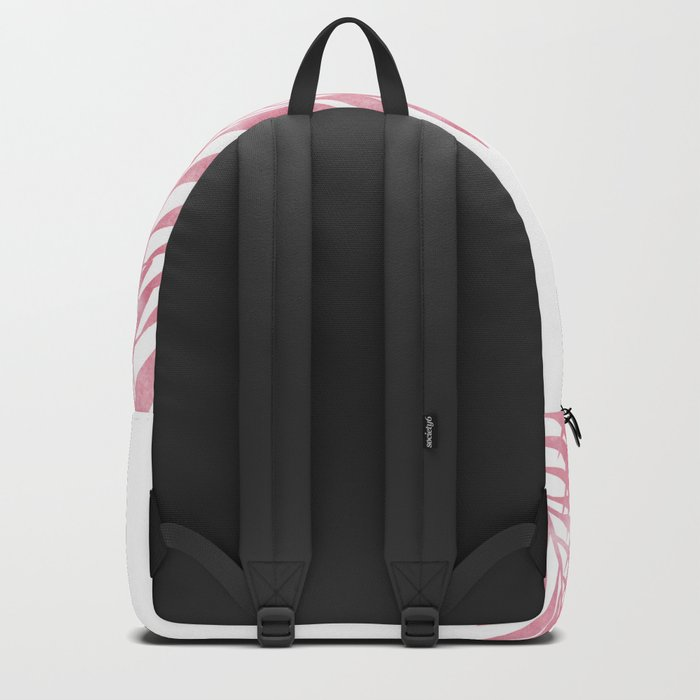Palm Leaves Pink Backpack