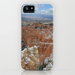 Snow in Bryce Canyon Utah iPhone Case