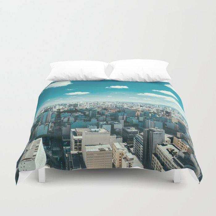 city blue 4 Duvet Cover