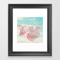 She Wears Pink Framed Art Print