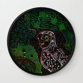 Owl in the dark night Wall Clock