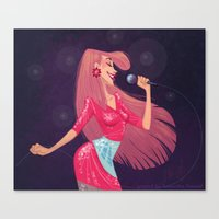 jem Canvas Prints featuring Jem by Samantha Youssef