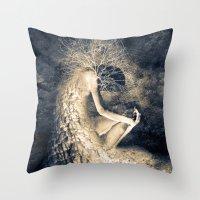 introvert Throw Pillows featuring introvert. by Viviana Gonzalez