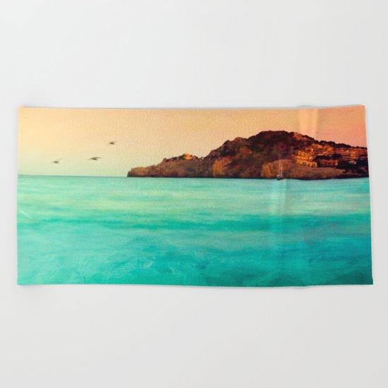 Glowing Mediterranean  Beach Towel