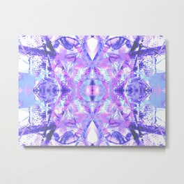 Mandala - Abstract Pink & Purple Butterfly Metal Print