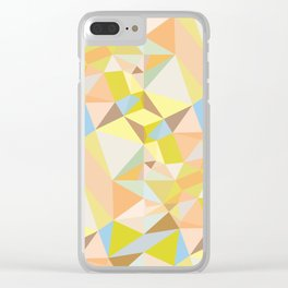 Pastel Earth Tone Triangle Pattern Clear iPhone Case