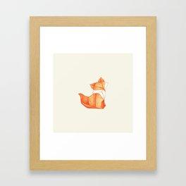 Paper Fox Framed Art Print