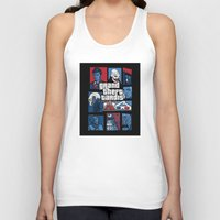 gta Tank Tops featuring Doctor Who and GTA - Nerd Mix by MarcoMellark