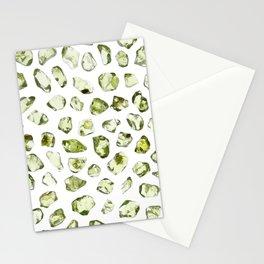 Olivine rare jewels Stationery Cards